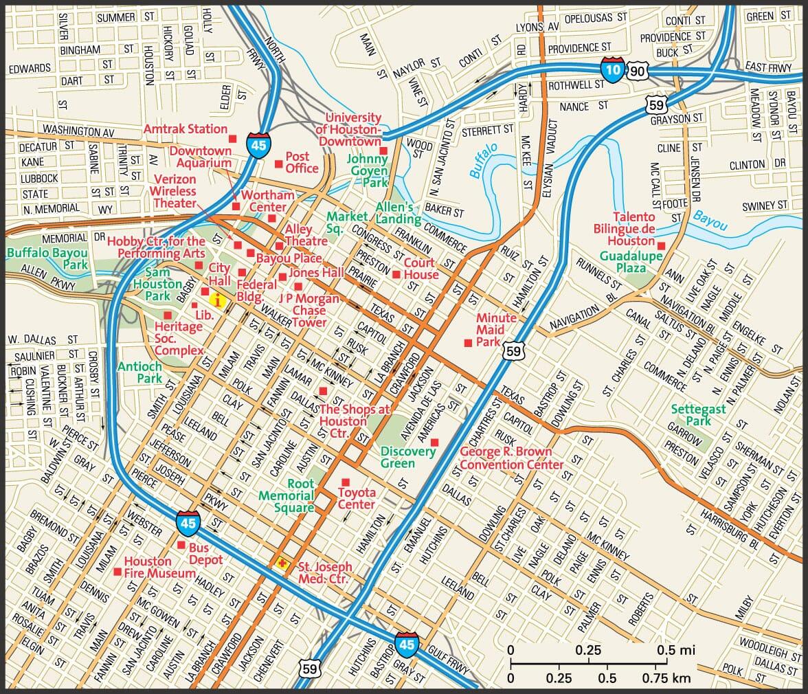 Houston Map Guide To Houston Texas