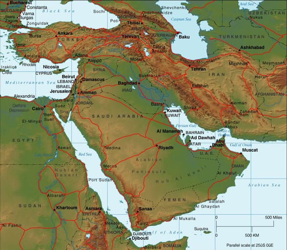 Middle East Map  Maps of the Middle East