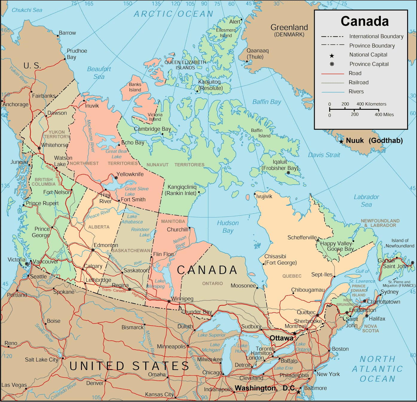 Canada Map Detailed Map of Canada Provinces