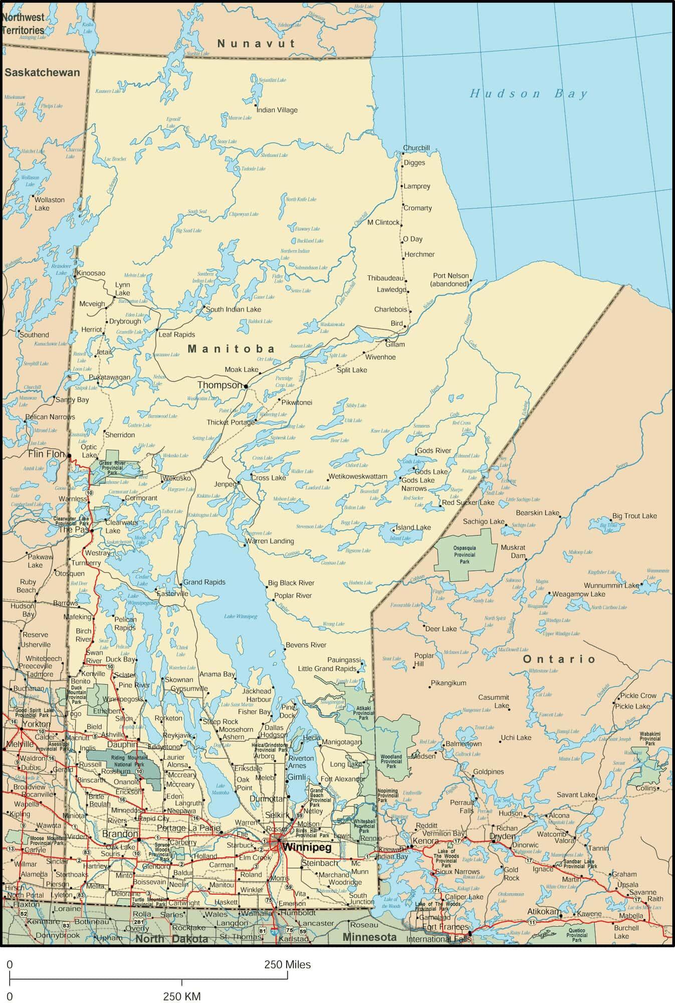 Detailed Map Of Canada.Manitoba Map Detailed Map Of Manitoba Canada