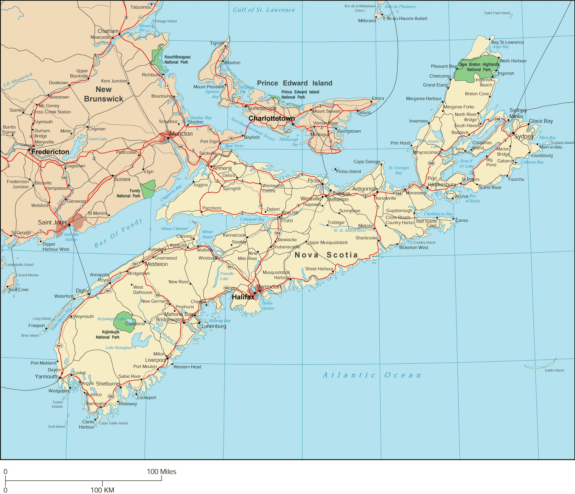 Nova Scotia Map Detailed Map of Nova Scotia