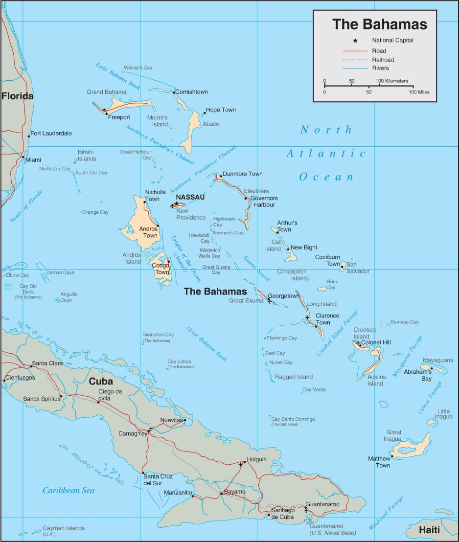Bahamas Map Detailed Map of The Bahamas