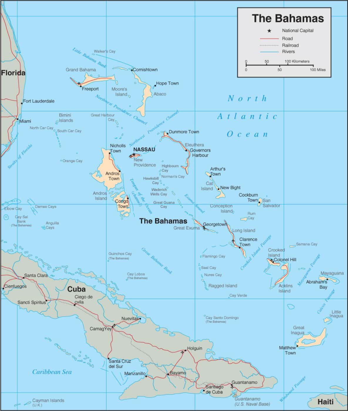 Bahamas Map - Detailed Map of The Bahamas