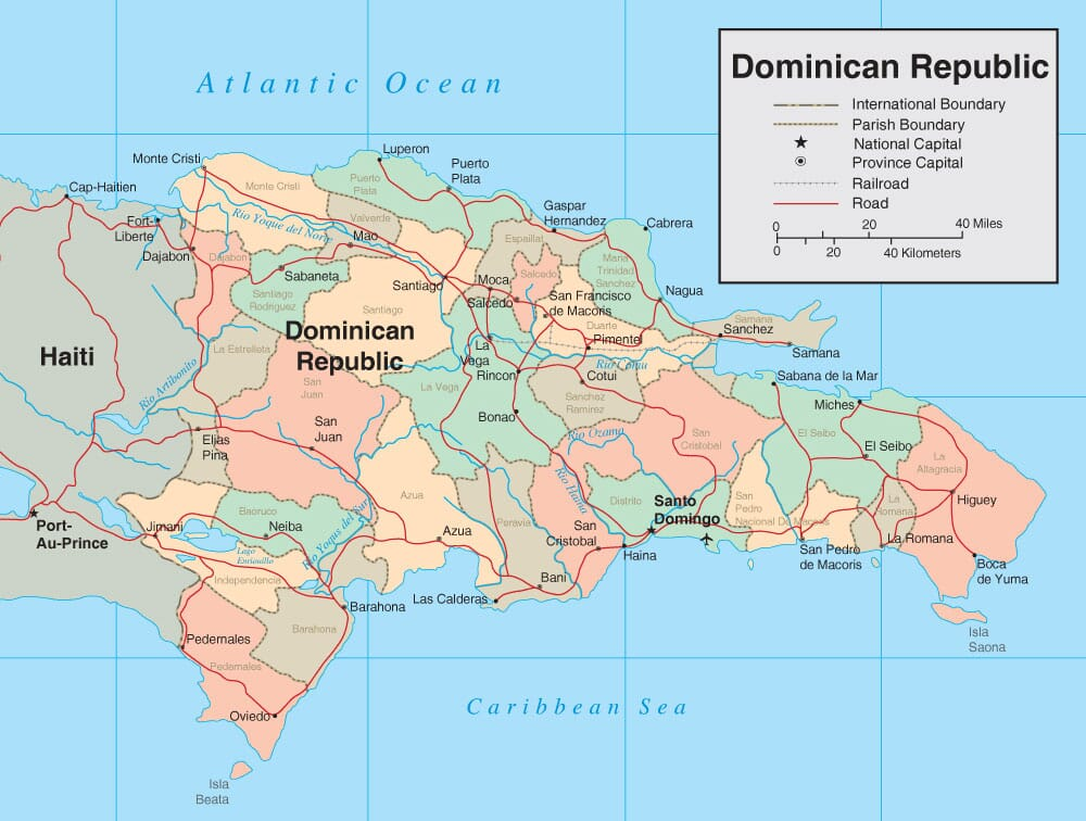 Dominican Republic Map Detailed Map of Dominican Republic