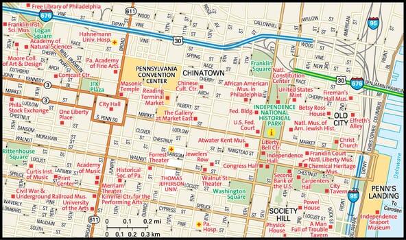 Philadelphia Map Guide To Philadelphia Pennsylvania - Philadelphia map