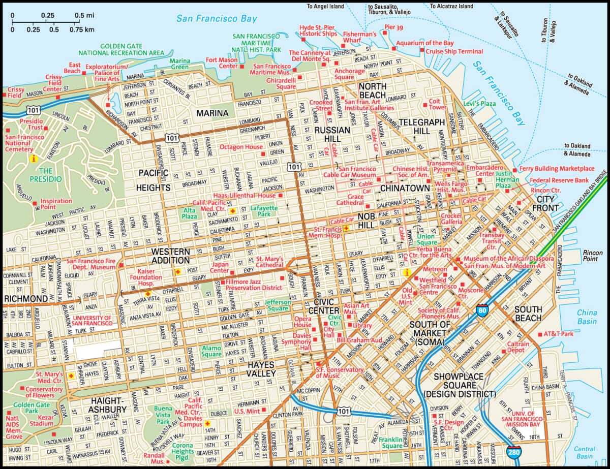 San Francisco Map - Guide to San Francisco, California on denver map downtown, savannah map downtown, portland hotels downtown, st. louis map downtown, sonoma map downtown, aspen colorado hotels downtown, los angeles map downtown, paris map downtown, texas map downtown, houston map downtown, flagstaff map downtown, map of downtown, alaska map downtown, manhattan map downtown, santa cruz map downtown, north chicago map downtown, cancun hotel map downtown, jersey city map downtown, columbia map downtown, tallahassee map downtown,