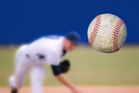 pitcher throwing a baseball