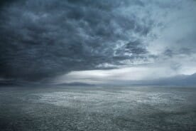 stormy weather and gray clouds