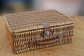 retro wicker valise