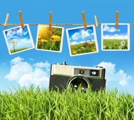 pictures and vintage camera
