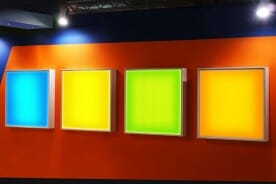 lighted advertising panels