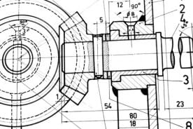 2d mechanical engineering cad drawing