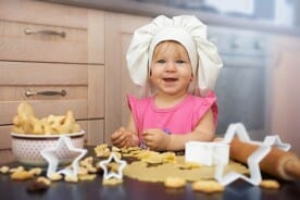 baking cookies in the kitchen