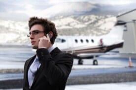 airport businessman