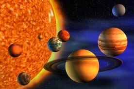 solar system - sun and planets