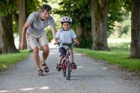 child wearing a safety helmet