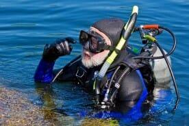 scuba diver wearing scuba equipment