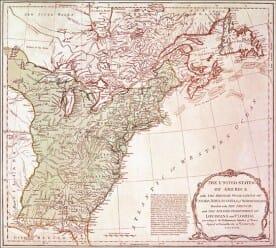 1783 united states map - treaty of paris