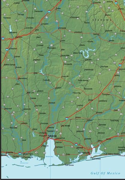 Southwest Alabama Map